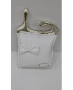 Bolso panera polipiel blanco